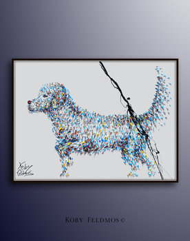 Dog Oil painting On Canvas Wall Pictures Paintings For Living Room Wall Art Dog Pet Pictures Modern Abstract Handpainted