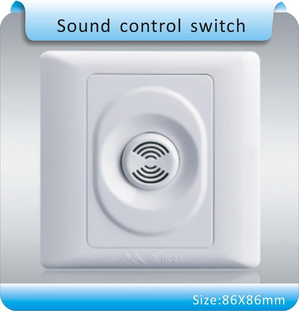 10pcs 86X86mm  White ABS Panel, Livolo New Wall Light  Sound  Control Switch, AC175~250V 30-60