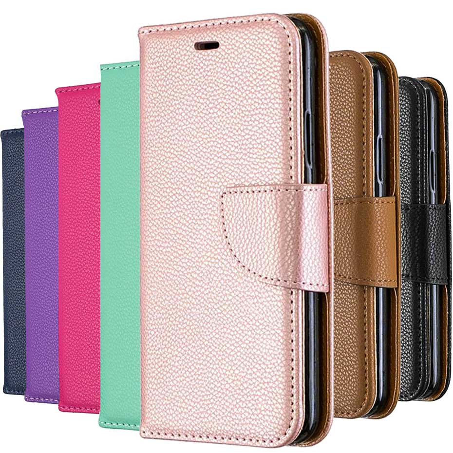 PU Leather Flip Case for <font><b>Nokia</b></font> 3.2 Litchi Stripes Wallet Case For <font><b>Nokia</b></font> 3.2 PU Leather Cover <font><b>Funda</b></font> Capa image
