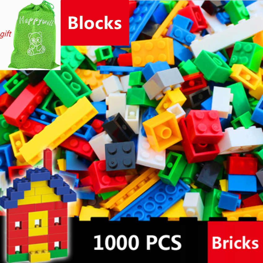 Happywill 1000pcs 500pcs 250Pcs Building Bricks Set Creative Brick Toys Child Educational Building Block compatible withLego loz mini diamond block world famous architecture financial center swfc shangha china city nanoblock model brick educational toys