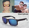 Hot Sale Holbrook Wood grain frame Coating Sunglasses Mens Womens Wooden Sport VR46 Sun Glasses oculos de sol Free shipping