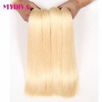 Mydiva 613 Blonde Haar Spinnt Brasilianisches Haar Bundles 100% honig gerade Haarverlängerungen Keine Schuppen Verwicklung Nicht remy Kann 1 jahr