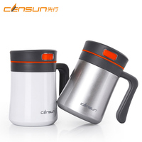 400ML Thermos Mug Double Stainless Steel Thermo Mug Vacuum Flask Cup Thermo Coffee Mugs Tea Cup With Handle Gentleman Office