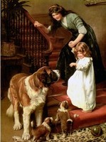 Cross Stitch Kits Cute Girl and Dog Crafts People Child Art Needlework 14CT Unprinted Embroidered Handmade DMC Wall Home Decor