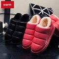Venda quente de Inverno Chinelos Casa De Pelúcia De Algodão-acolchoado Sapatos Mulheres Interior \ Piso Chinelos Quentes Sapatos Baixos Doces