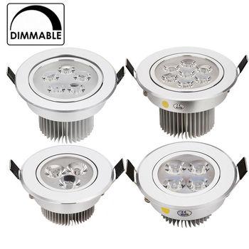 2 sztuk/partia najlepsza cena 3 W 9 W 12 W 15 W 21 W wpuszczana LED downlight ściemniania AC120V 240 V oświetlenie wewnętrzne na zimno/czysta/ciepły biały