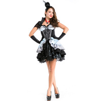 New Vampire Halloween Witch Costume DS Devil Halloween Costume Uniform Temptation Real Shot Puff Princess Dress L18817111