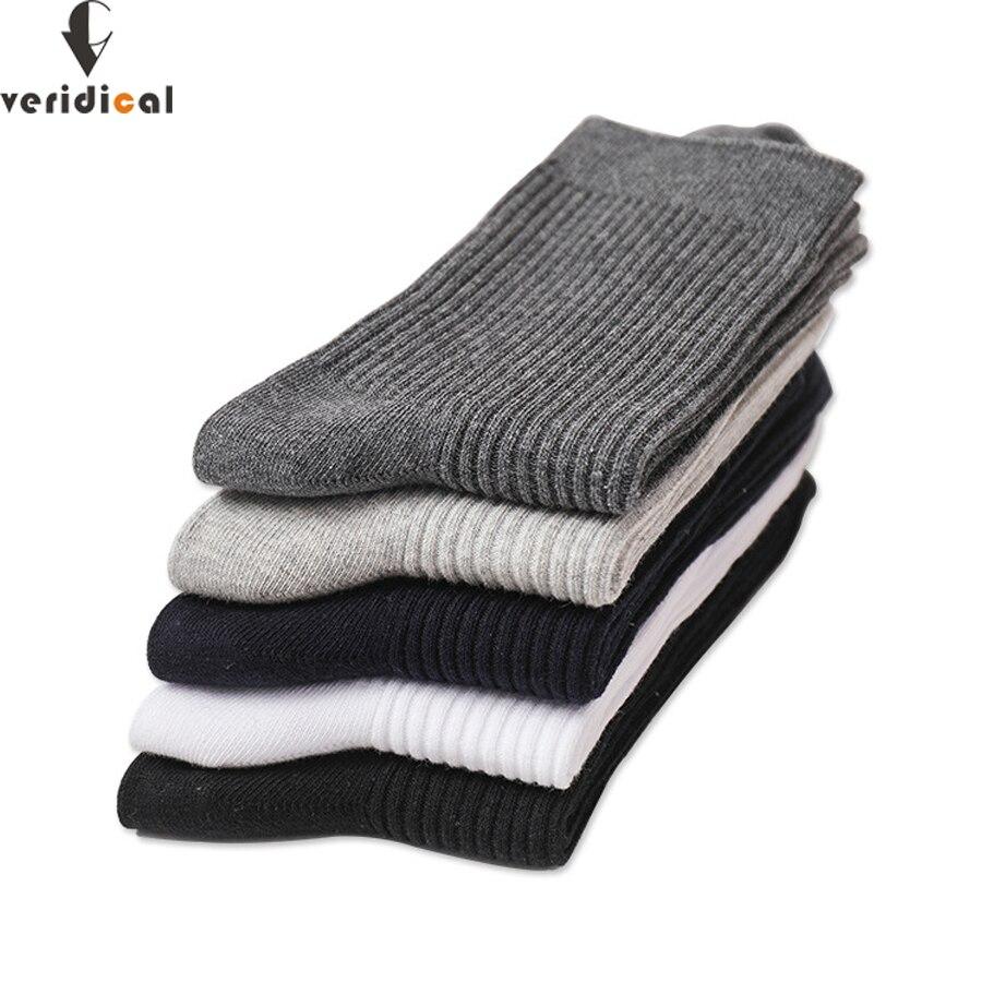 VERIDICAL Good Quality 5 Pairs/lot Men Socks Cotton Long Business Harajuku Diabetic Fluffy Socks Meias Masculino Calcetines Meia