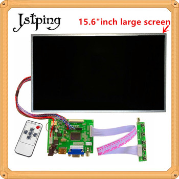 Jstping 15.6 inch large Control LCD screen Driver Monitor Board LP156WH4 TLA1 HDMI VGA for Raspberry Pi 3 laptop display panel