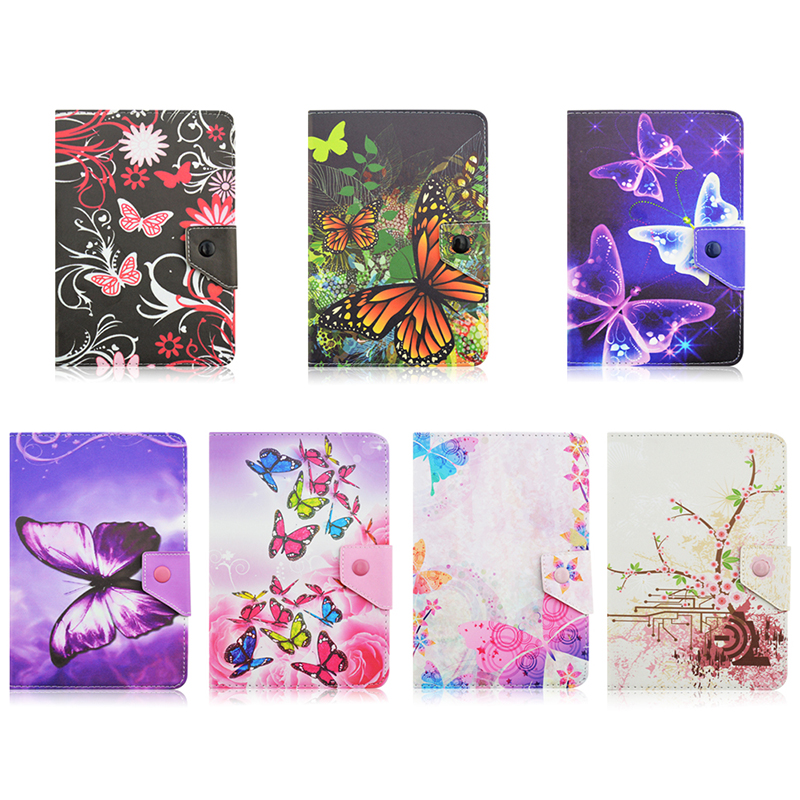 RUSSIA For Oysters T72 MR Wi-Fi 7.0 inch Butterfly print PU Leather Stand universal case for tablet 7 inch Cover Cases KF492A oysters t74er 7 4 gb wi fi black