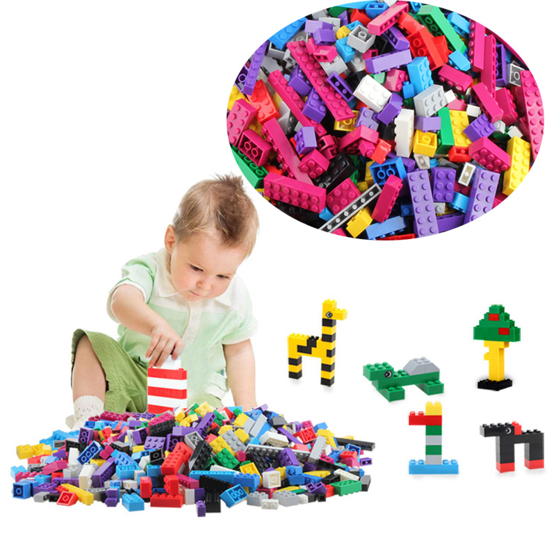 Rainbow 50Colorful Building Blocks Toy Bricks DIY Assembling Early Educational Learning Classic Toys Kids Gift