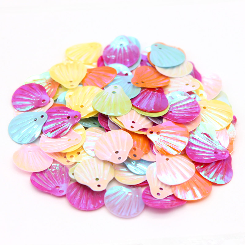 DIY  200pcs scallop shape Sequin Sewing decoration Stage Clothes Accessories