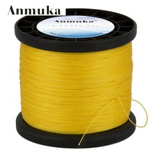 Anmuka Brand 1000 Meter  Multifilament PE Braided Fishing Line Carp  Super Strong 4 Stands 8/10/20/30/40/60LB Free Shipping