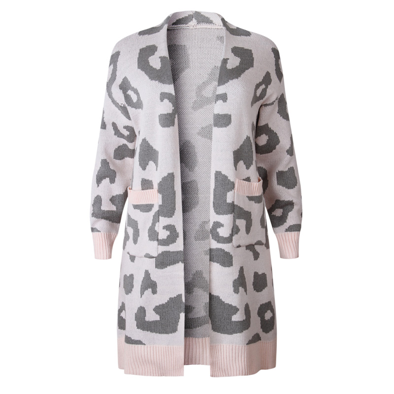Dom1061113 Khaki Blancs Couleurs Gros Manteau Disponibles 2 Cardigan Point Ouvrir Sweat Guépard Dans Cadeau Léopard pink mix En OnZ6xtw