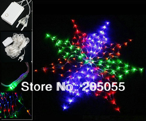 Colorful led chirstmas light 160 led wedding giant star for 160 net christmas decoration lights clear