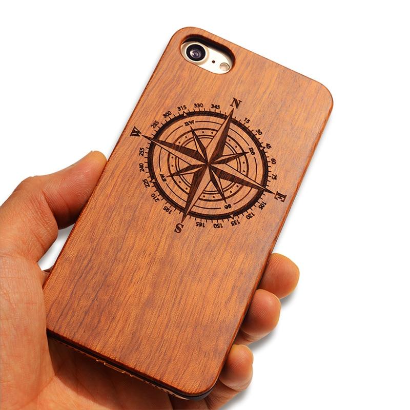 Natural Boogic ολοκαίνουργια ξύλινη θήκη τηλεφώνου για iPhone 5 5S 6 6S 6Plus 7 7Plus Κάλυμμα Ξύλινη σκαλιστή προστατευτική ανθεκτική στον κραδασμό Coque