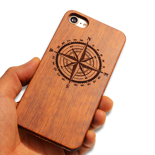 Natural Boogic Brand New Wood Phone Case For iPhone 5 5S 6 6S 6Plus 7 7Plus Cover Wooden Carved Shockproof Protector Coque