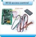 Envío gratis 125 KHZ RIFD incrustado controlador protector de la entrada, junta de control de acceso, usuarios registrados a distancia 10 unids tarjeta de identificación