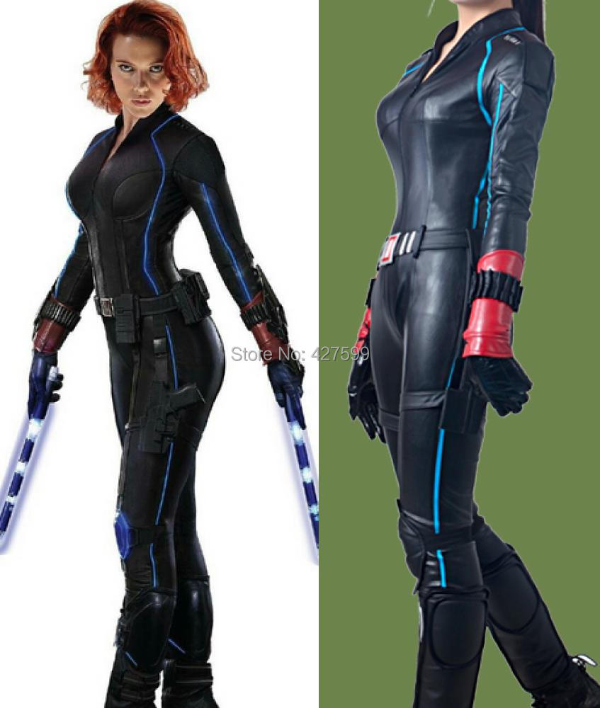 Us 258 95 New The Avengers Age Of Ultron Black Widow Natasha Romanoff Cosplay Costume Women S Jumpsuit In Movie Tv Costumes From Novelty