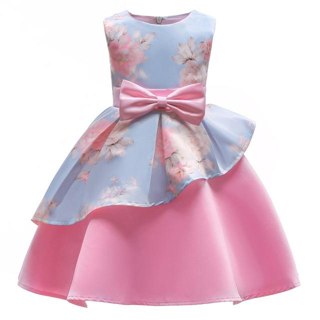 Kids Dresses For Girls Elegant Princess Dress Flower Girls Wedding Dress Children Easter Carnival Costume For Girls Party Dress