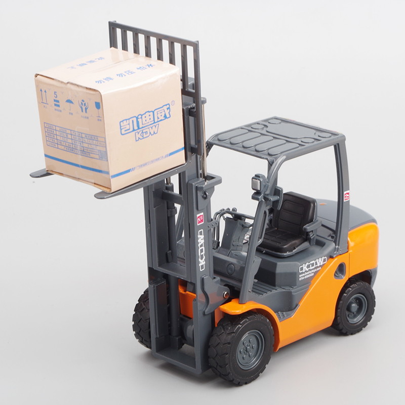Interesting 1:20 Alloy Hydraulic Light Forklift Model,metal Adult Engineering Car Model,simulation Toy Car Model,free Shipping