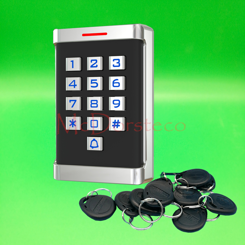 12V 24V Waterproof IP68 Metal Rfid Access Control EM ID Keypad Single Door Stand-alone Access Control & Wiegand 26 bit In/Output