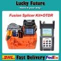 Fibra Óptica Emenda Máquina Splicer Da Fusão Kit fusionadora de Fibra Optica Com SM 1310/1550 Fibra Óptica OTDR Tester