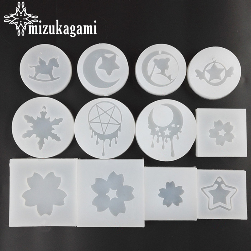 1pcs UV Resin Jewelry Liquid Silicone Mold Flower/Moon/Star Resin Charms Molds For DIY Intersperse Decorate Making Jewelry