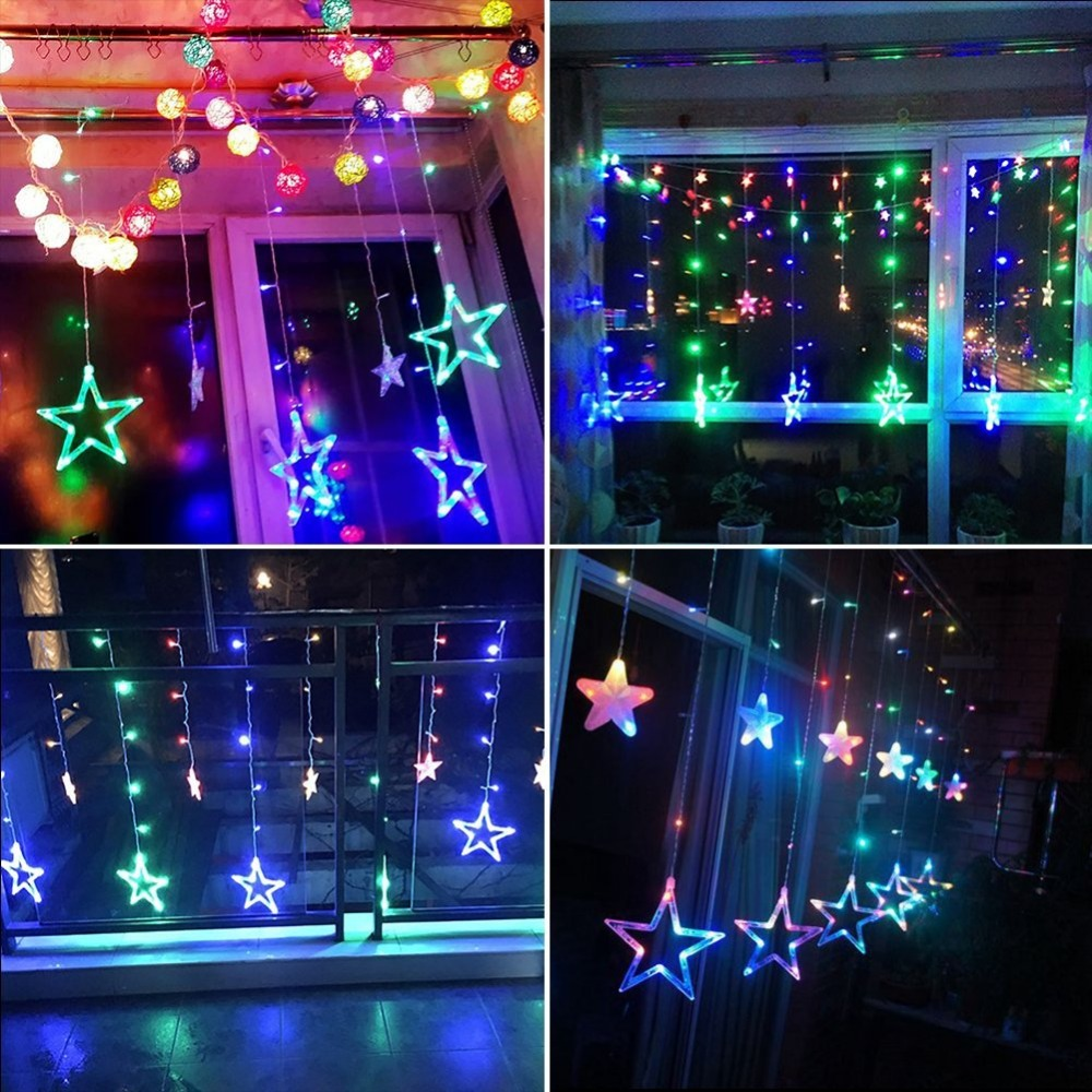 popular white star light buy cheap white star light lots from star led xmas garland light for wedding party holiday deco romantic fairy star curtain string light
