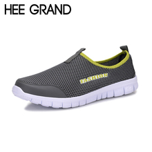 HEE GRAND 2017 Summer Style Men Shoes Male Casual Slip On Network Shoe Man Breathable Mesh Shoes Men Loafers Size Plus XMR199