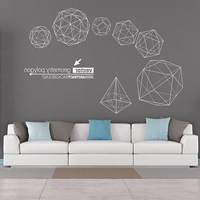 Geometric Wall Stickers Three Dimensional Large Scale Living Room Background Office Decoration Art Home Decoration Stickers