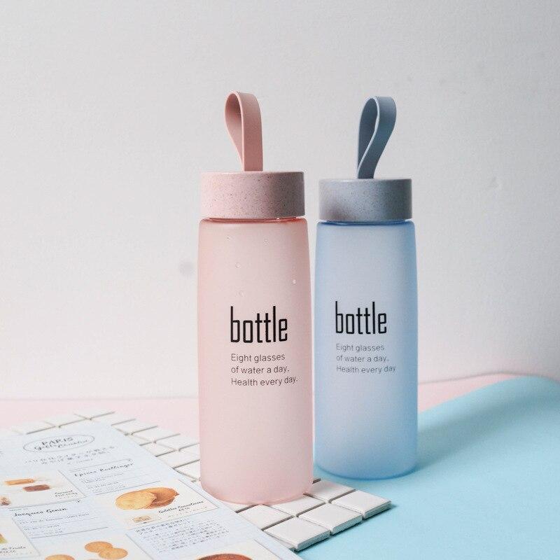 BPA FREI Wasser Flasche Kunststoff Sport Peeling Leck Beweis Trinken Meine Flasche Tragbare Mode Drink Tour Flaschen für Liebhaber H1094
