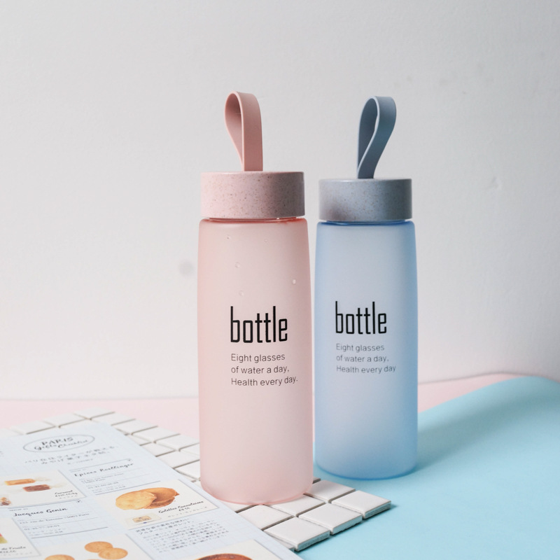BPA Free Water Bottle Plastic Sport Scrub Leak Proof Drinking My Bottle Portable Fashion Drinkware Tour Bottles for Lovers H1094