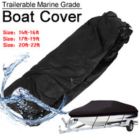 Trailerable Marine Grade Boat Cover Breathable UV Resistant + Mesh Storage Bag Boat Cover Boat Parts & Accessories