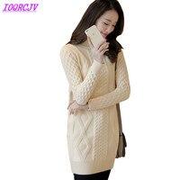 OKXGNZ 2018 Women Autumn And Winter Bottom Sweater Pullovers Turtleneck Knit Sweater Loose Thicken Warm Long