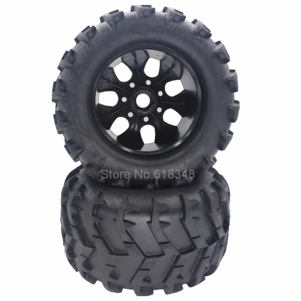 4 Pieces 3.2 150mm RC Rubber Tires & Plastic Wheel Rims 17mm Hex Hub Mount For Off Road 1/8 Monster Truck Tyre 4pcs set 140mm rc 1 8 monster truck tires tyre plastic wheel rims