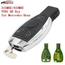 Keyecu 3 кнопки Xhorse VVDI быть pro улучшенная версия Автозапуск удаленной машине брелок 315 мГц/433 мГц для Mercedes-Benz