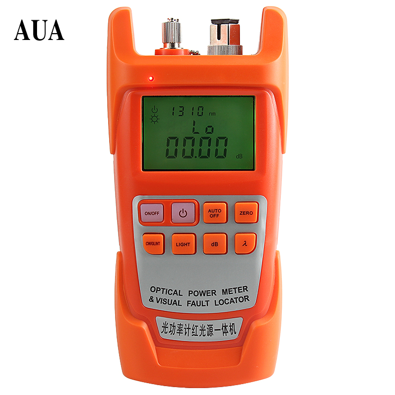 AUA-9AC All-IN-ONE Fiber optical power meter -70 to +10dBm and 20mw 15km Fiber Optic Cable Tester Visual Fault Locator