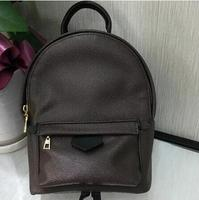 2018 woxk speedy bag Genuine Leather fashion Classic Women brown flower backpack Bag free shipping