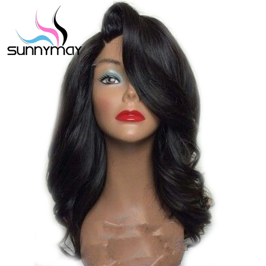 Sunnymay 13x4 Wavy Lace Front Wigs 180 Pre Plucked Wigs For Women Remy Hair Side Part
