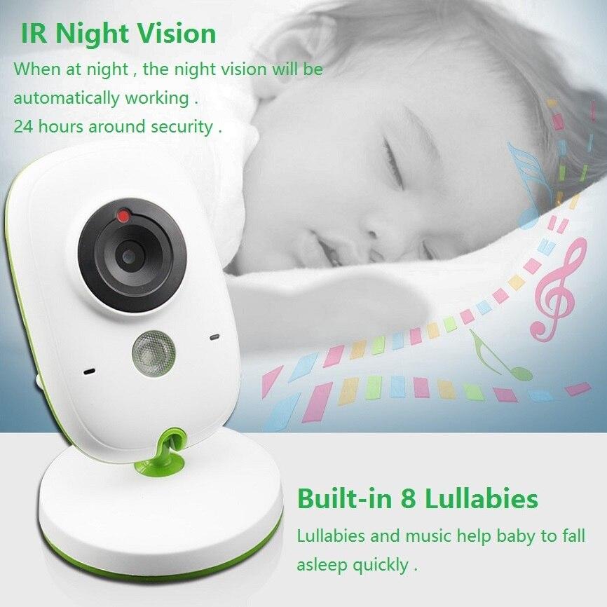 Babykam digital baby monitor 2.0 inch LCD IR Night Vision Temperature Monitor Lullabies 2 way talk VOX mode video baby monitor