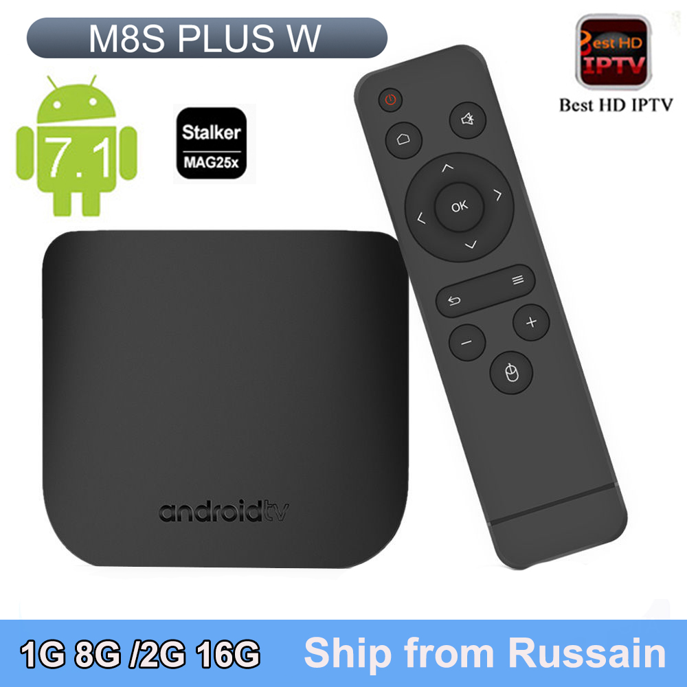 MECOOL M8S Plus W Amlogic S905W Quad core tv box android 7.1 4K android box 2.4G WiFi H.265 Set Top Box support Europe IPTV original amlogic s812 m8s plus tv box quad core android 5 1 2 4g