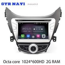 2G Ram Android 6.0 octa Core DVD GPS para Hyundai Elantra avante I35 2011 2012 2013 con radio wifi 4G Bluetooth espejo enlace