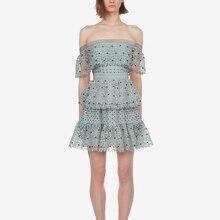 Spitze Kleid Sommer Rüschen