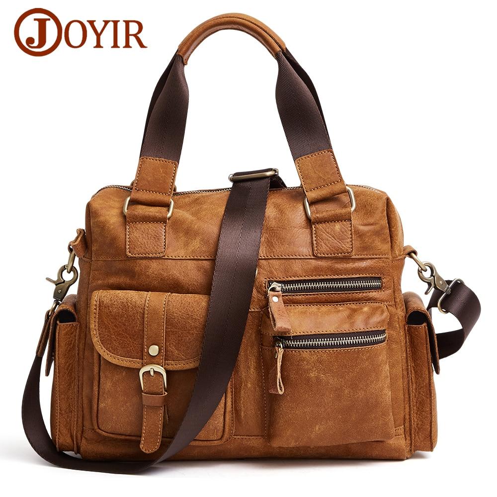 JOYIR из натуральной яловой кожи для мужчин сумки коричневый нубук мужской курьерские Малый портфели человек Crossbody сумка