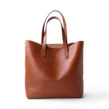 Bolso de hombro de piel auténtica para mujer, bolso de mano femenino, clásico, sencillo, a la moda, informal
