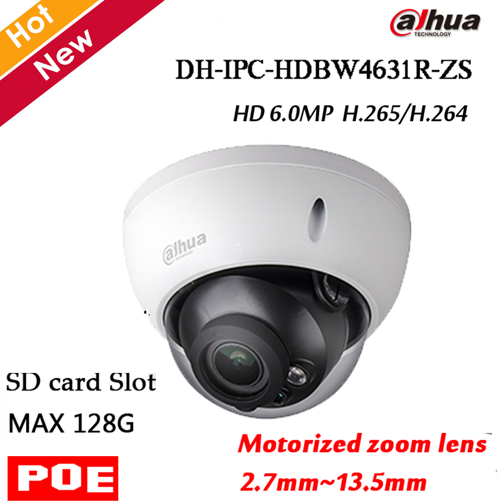Dahua English Firmware IPC HDBW4631R ZS Motorized Zoom Lens 2 7mm 13 5mm 6MP With Sd