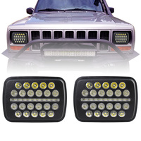 70w 7X6 LED Headlight DRL Conversion Sealed Beam for Jeep Cherokee XJ Trucks 5x7LED Headlight DRL Hi/Lo Beam For Toyota Pickup