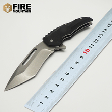 BMT Medford Tactical Camping Folding knife Steel Blade Black G10 Handle Utility hunting knife Survival EDC Knife Gear Tool