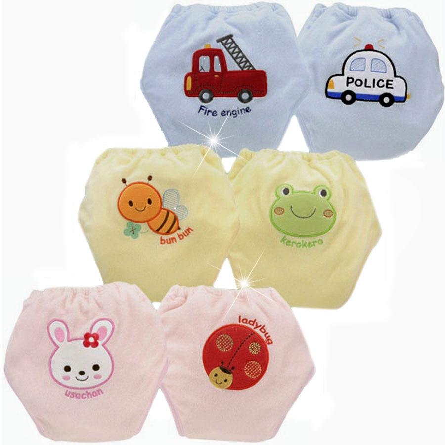무료 배송 2 단위 아기 훈련 바지 소년 소녀 반바지 면화 속옷 피 학습 기저귀 유아 기저귀 4 레이어 SY005